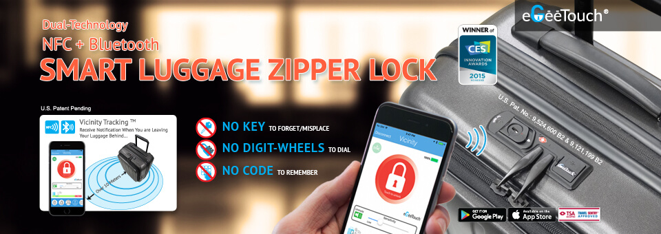 egeetouch smart electronic luggage lock